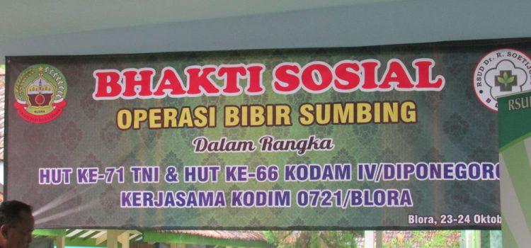 Bakti Sosial Operasi Bibir Sumbing Dalam Rangka HUT TNI Ke-71