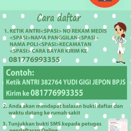 Pendaftaran SMS RSUD Dr. R. Soetijono Blora
