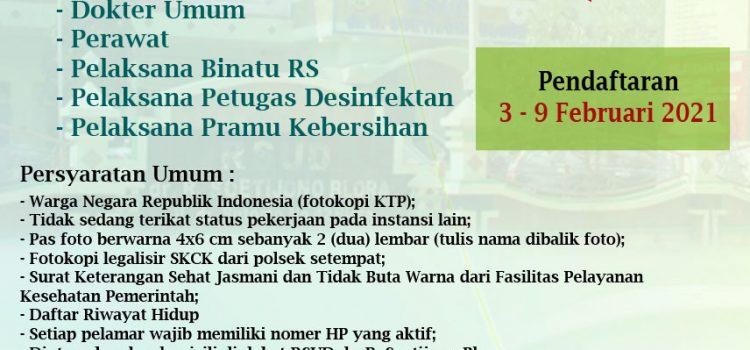 PENGUMUMAN REKRUTMENT PEGAWAI KONTRAK RSUD Dr. R. SOETIJONO BLORA TAHUN 2021
